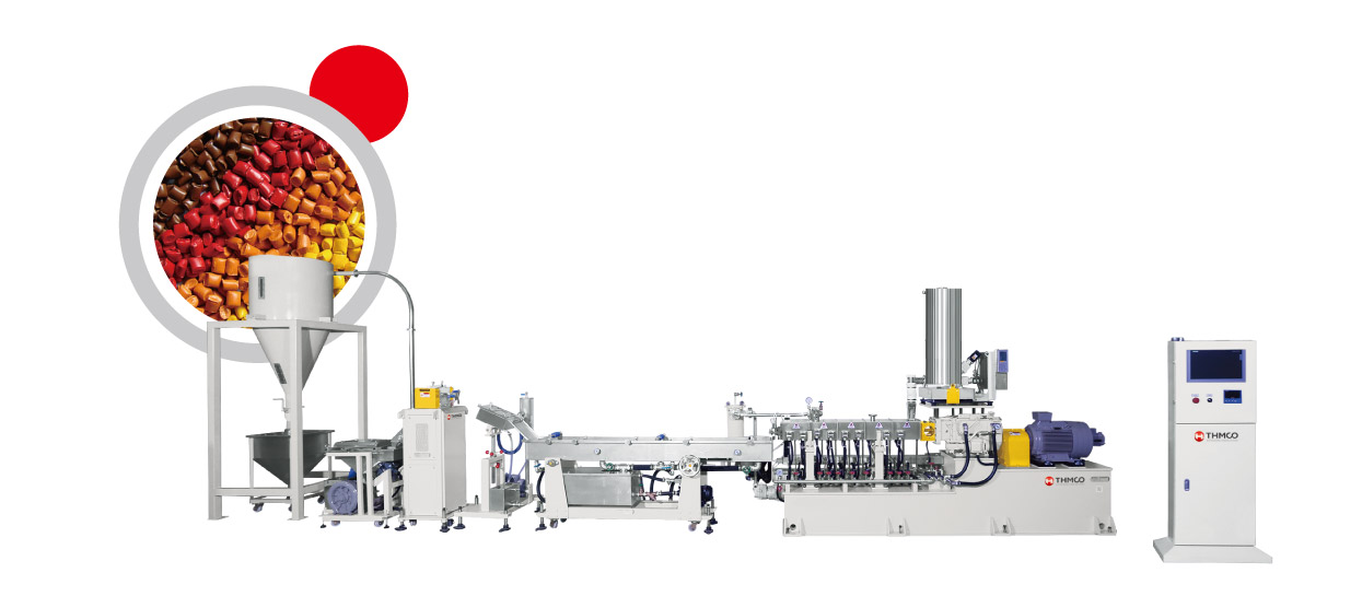 Compounding & Masterbatch Co-Rotating Twin Screw Extruder Machine
